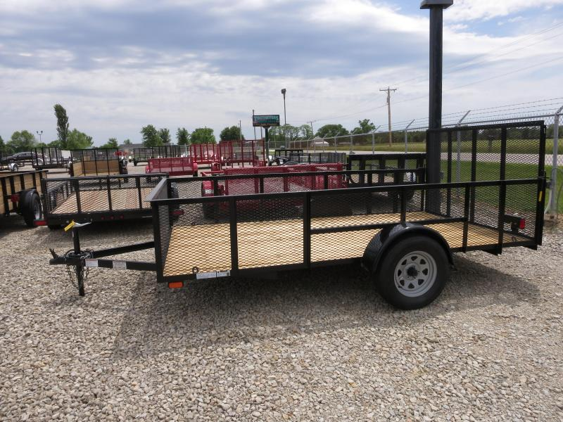 American Manufacturing 7x12 Utility Trailer w/ mesh sides gate
