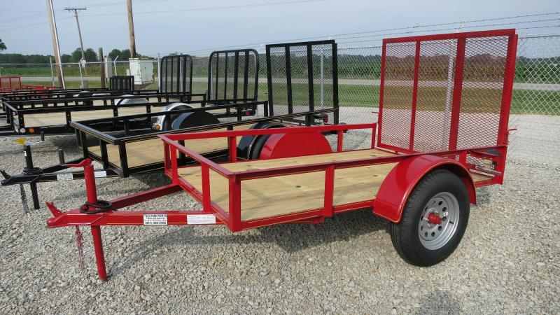 P&T Trailers 5x8 Utility Trailers Single Axle w/ Rear Gate