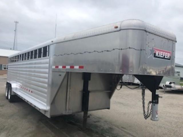 2011 Kiefer Built A2G724 Livestock Trailer