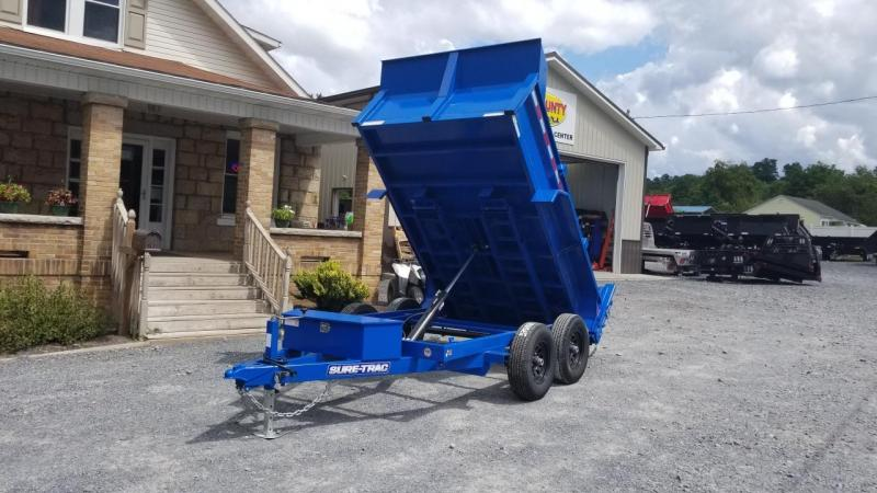 Sure-Trac 72X10 10K LPro Single Ram Dump Trailer Royal Blue