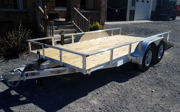 "H&H 76"" X 16 Aluminum Tube Top 7K Trailer"