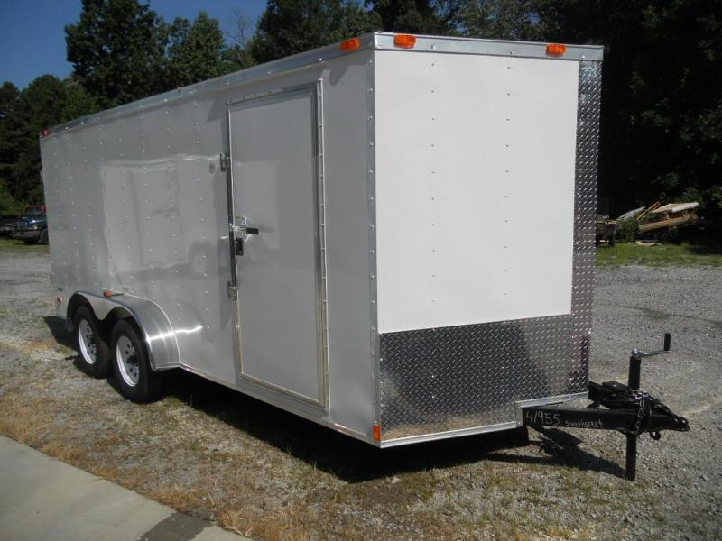 2017 Freedom 7' x 16' Enclosed Cargo Trailer with Double Doors