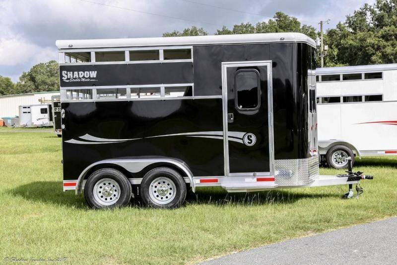 2018 Shadow 2-Horse Bumper Pull Slant Load Trailer