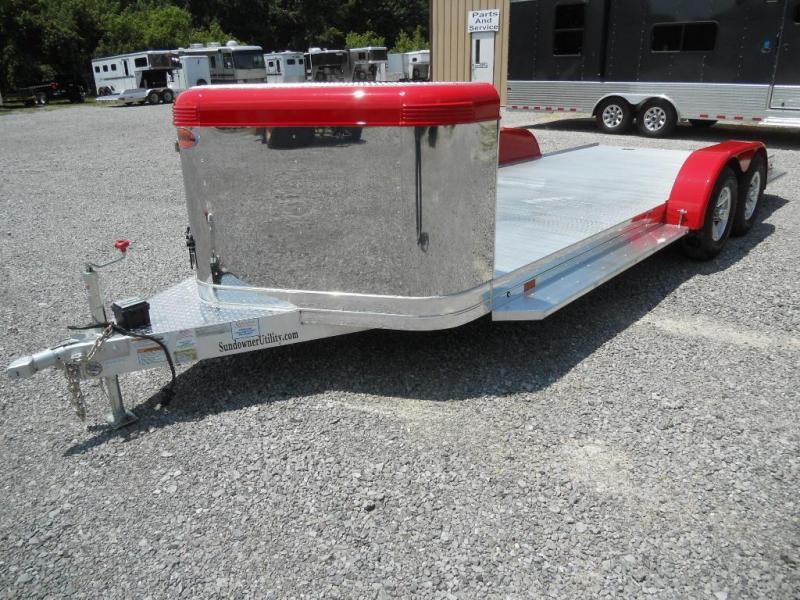 2017 Sundowner 22' Open Car Hauler with Enclosed Air Dam