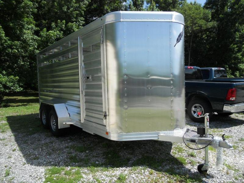 2016 Featherlite Model 8107 16' Livestock Bumper Pull Trailer
