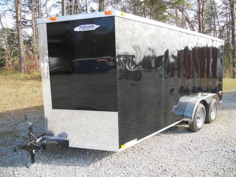 2016 Freedom Trailers 7' x 16' Enclosed Cargo Trailer