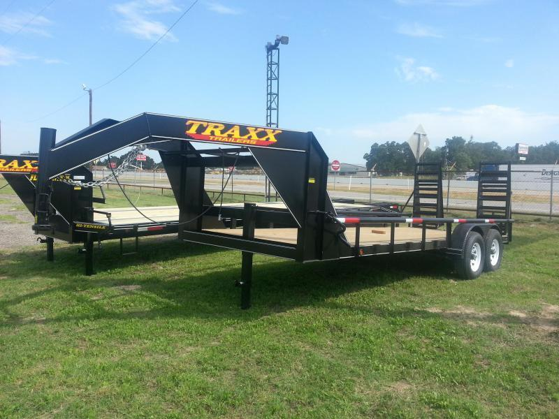 2019 Traxx Trailers 20' Heavy Duty Low Boy Gooseneck Pipe Top