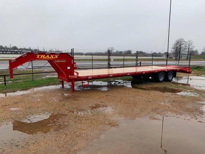 2019 Traxx Trailers 32' Gooseneck Flatbed Trailer