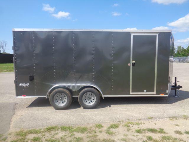 2019 Pace American 7x16 V-NOSE/RAMP DOOR/SIDE DOOR/EXTRA HEIGHT Enclosed Cargo Trailer