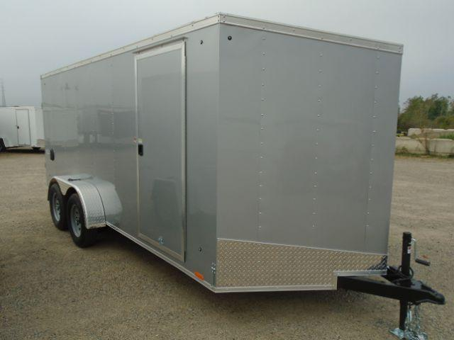 2019 Pace American OB7X16TE2 V-NOSE/RAMP DOOR/SIDE DOOR Enclosed Cargo Trailer