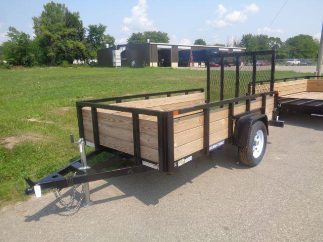 2018 Sure-Trac ST6210HST-B-030 5X10 TUBE TOP THREE BOARD 3K IDLER Utility Trailer