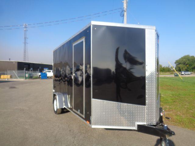 2019 Pace American JV7X14SE2SE V-Nose/Ramp Door/+12in Extra Height Enclosed Cargo Trailer