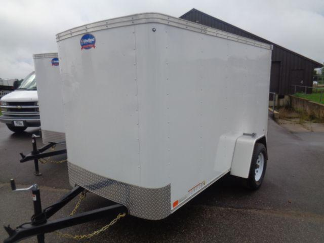 2019 United Trailers 5x10 SWING DOOR Enclosed Cargo Trailer