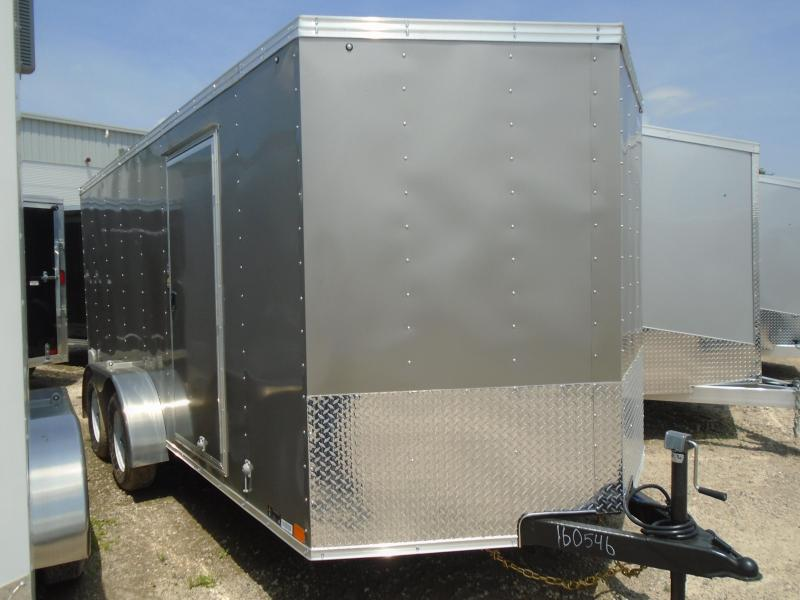 2019 United Trailers XLV-716TA35-8.5-S V-Nose/Ramp Door Enclosed Cargo Trailer