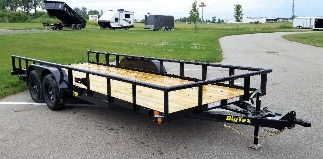 2019 Big Tex Trailers 70PI-20XBK 7X20 7K Wood Deck Pipe Trailer Utility Trailer