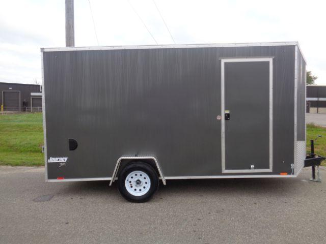 2019 Pace American JV7X14SE2 JOURNEY V-Nose/Ramp Door/+12in Extra Height Enclosed Cargo Trailer