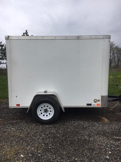 2018 United Trailers XLE-58SA30-S Ramp Door Enclosed Cargo Trailer