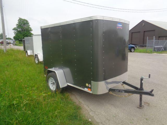 2019 United Trailers 5x8 RAMP DOOR Enclosed Cargo Trailer