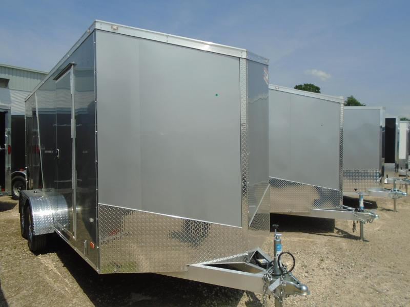 2018 American Hauler Industries 7x16 Slant V-Nose Aluminum Cargo/Enclosed Trailer