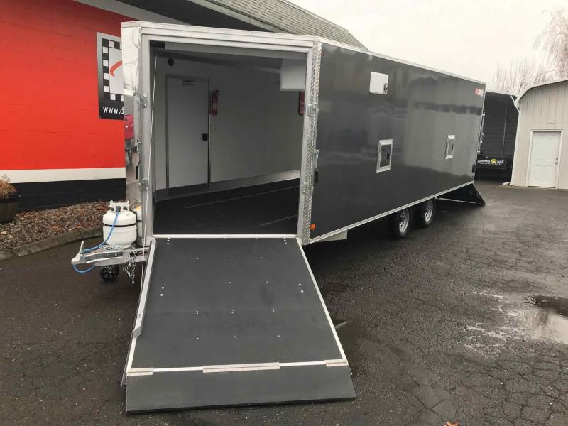 2018 Snopro SNOPROE101X22DL-H-LM Snowmobile Trailer