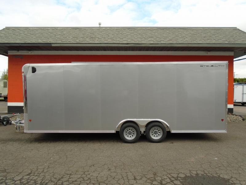 2018 Alcom-Stealth C8X22SCH-IF STEALTH Car / Racing Trailer