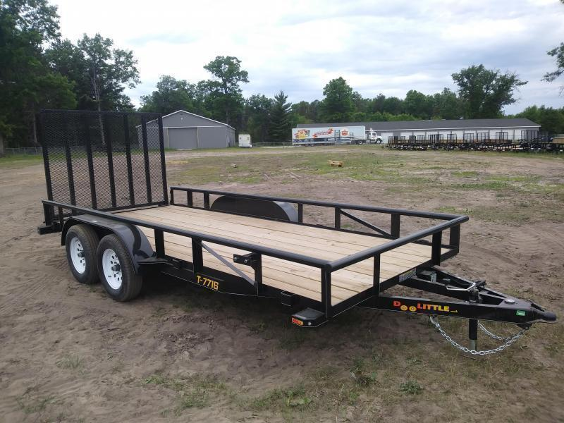2018 Doolittle Trailer Mfg 6.4 x 16 Pipe top landscape trailer Utility Trailer