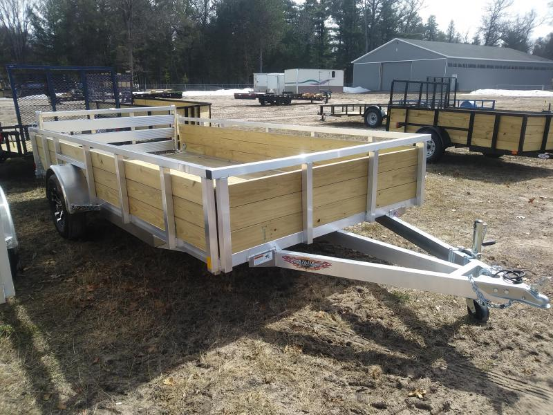 "2019 H and H Trailer 6'8"" X 14' WOOD-SIDE ALUM 3K"