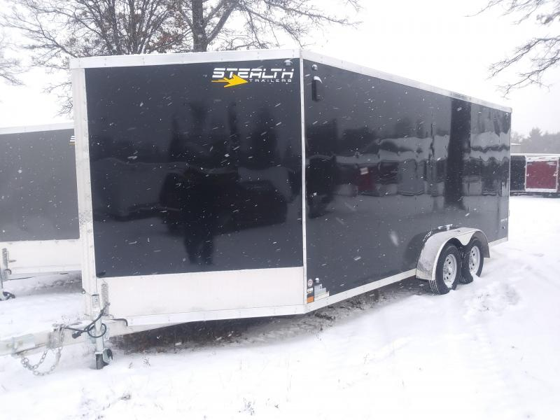 2019 7 x 23 Stealth Apache series Snowmobile Trailer