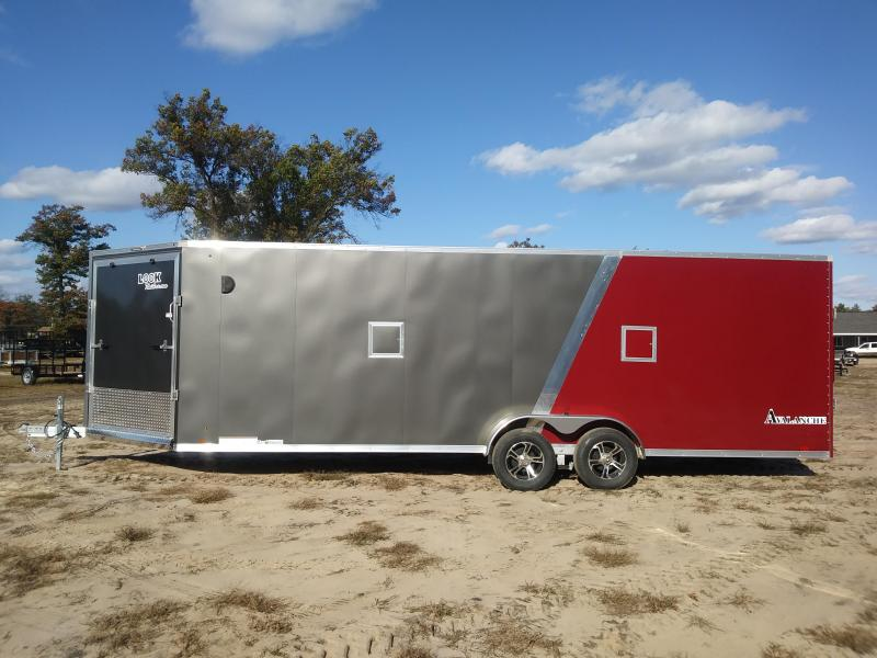 New 2019 7x29 Look Enclosed 4 Place Snowmobile Trailer
