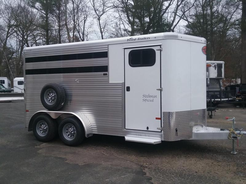 2019 Sundowner Trailers Stockman 3H Slant Combo BP Horse Trailer