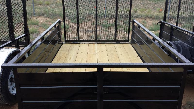 2015 Carry-On 8' Utility Trailer with Solid Steel Sides