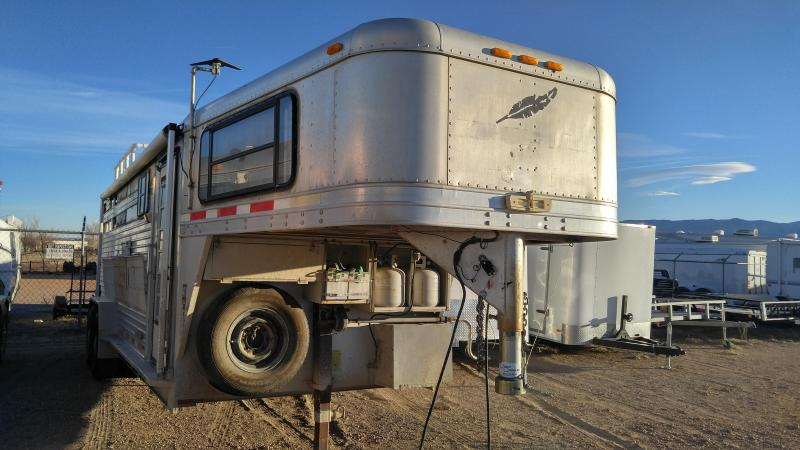 1997 Featherlite Gooseneck 3 Horse Trailer with homemade living quarters