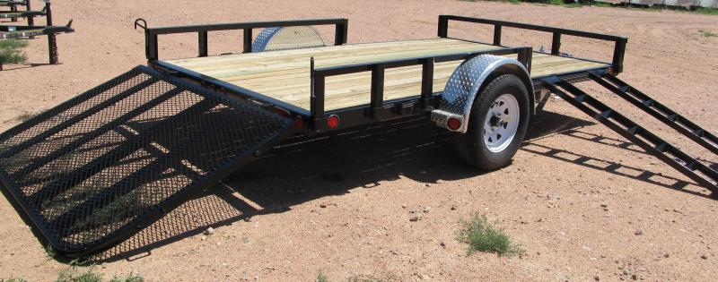 2015 PJ Trailers 12' Utility Trailer with Side Mounted ATV Ramps