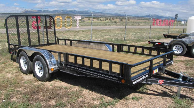 2015 PJ Trailers 16' Utility Trailer with Side Mount ATV Ramps