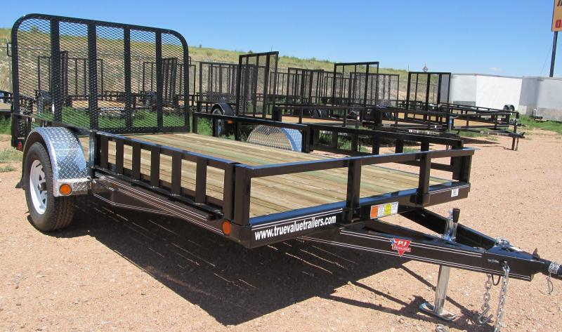 2015 PJ Trailers 12' Trailer with side mounted ATV Gates