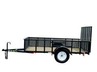 2016 Carry-On 8x60 Wood Floor Mesh Sides Utility Trailer