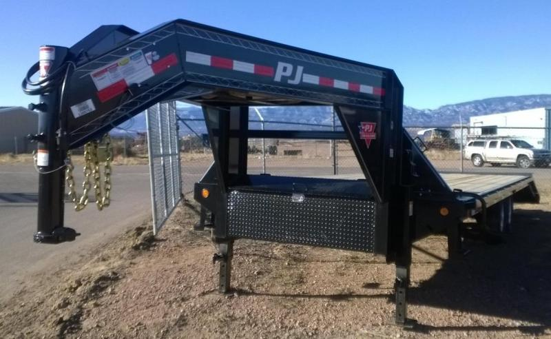 2015 PJ 25' Flatdeck with Singles Trailer