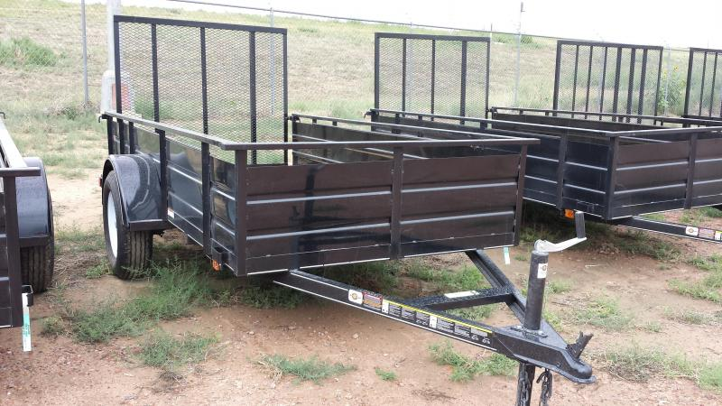 Dump trailers true value trailers new and used cargo for Wood floor utility trailer