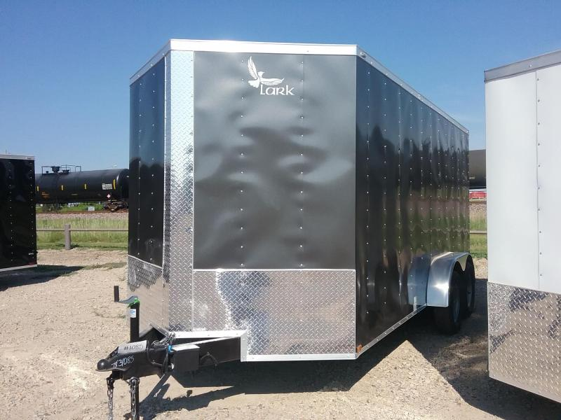 2019 Lark CT7X16TA Charcoal Enclosed Cargo Trailer