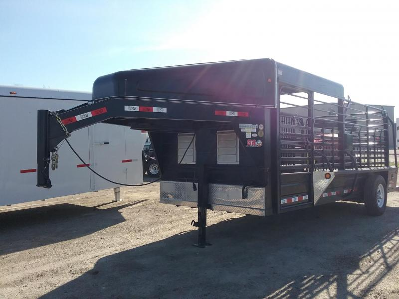 2016 GR Trailers 68x16 Used Single Axle Livestock Trailer