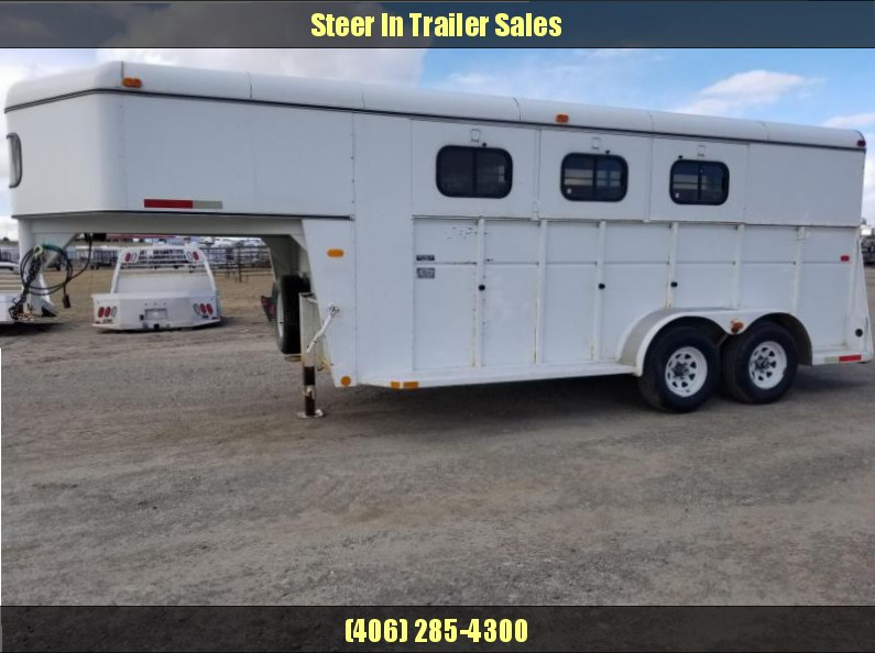 1994 Logan Coach 3H GN Horse Trailer