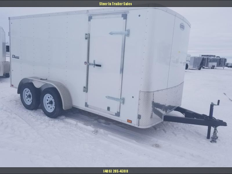 2018 Cargo Express EX 7X14 Flat Top Cargo Trailer DAMAGED