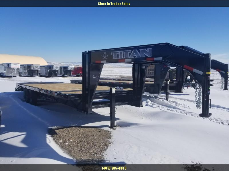 2018 Titan Ruff Neck 20+6 Wide Glide Equipment Trailer