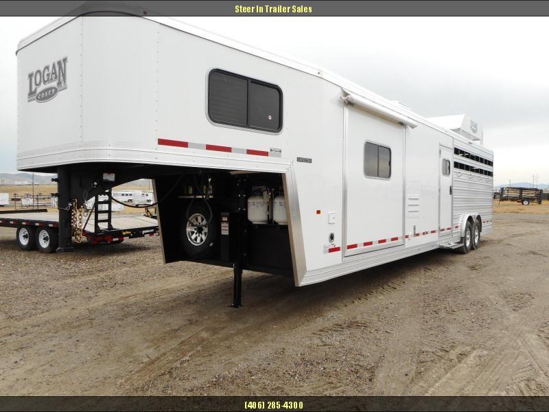 2017 Logan Coach Limited 812 Stock Combo Horse Trailer