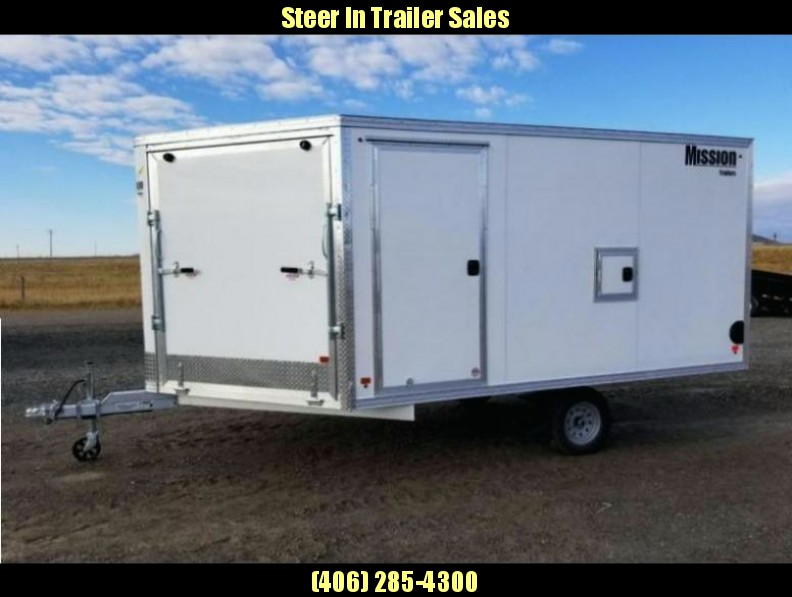2018 Mission 101X12 Snowmobile Trailer