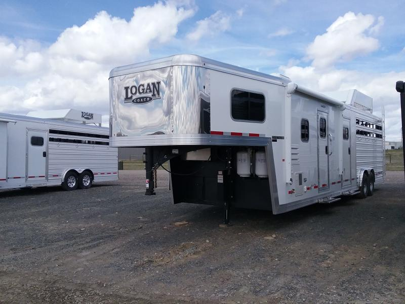 2018 Logan Coach 18 Stock Combo GN Platinum Package Horse Trailer
