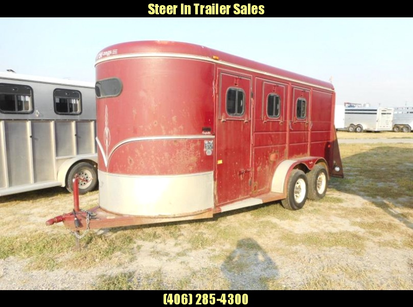 1995 CM 3 Horse Trailer