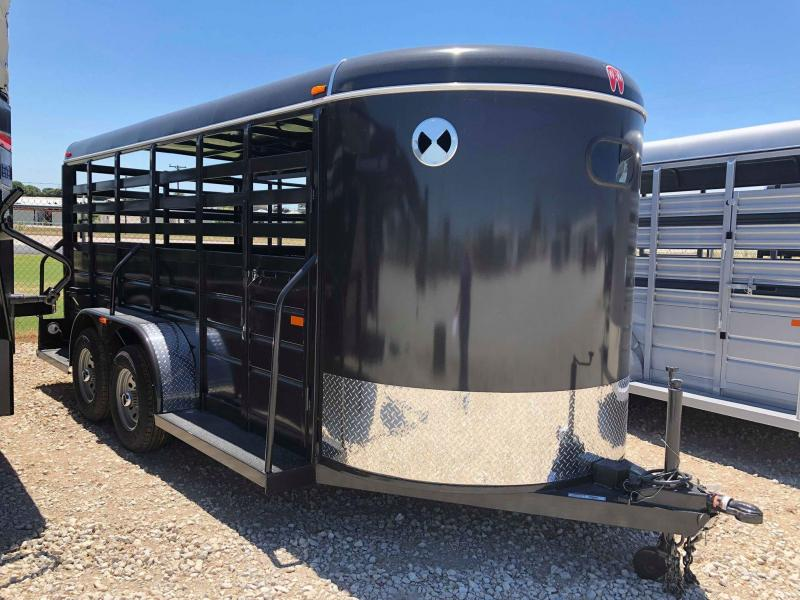 2019 W-W Trailer 16X6 All Around Livestock Trailer