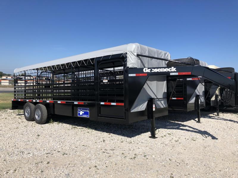 "2019 Gooseneck 24'x6'8"" Steel Livestock Trailer"