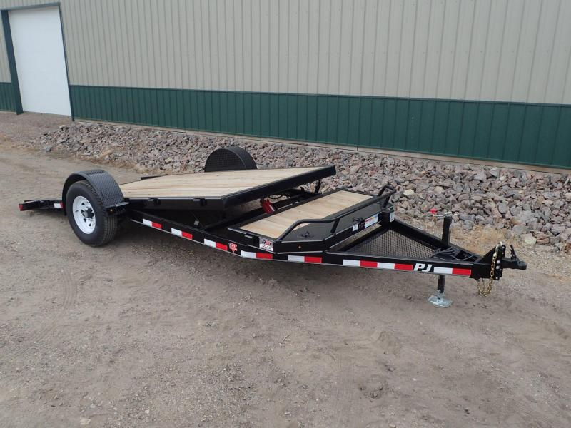 2020 PJ 16' Single Axle HD Tilt Equipment Trailer